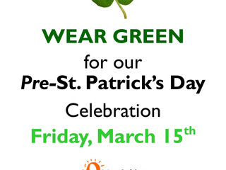 We Will (SHAM)ROCK You: Pre-St. Pat's Party~Wear Green, Fri 3/15