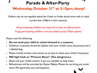 Annual Halloween Costume Parade & After-Party at Oyster Babies & Oyster Babies East
