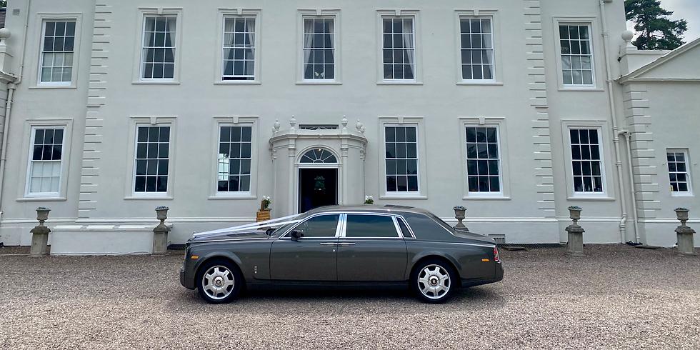Rolls Royce wedding car in Stone near Staffordshire