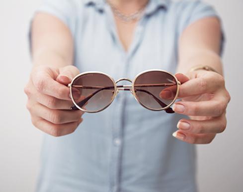 Круглые каркасные солнцезащитные очки