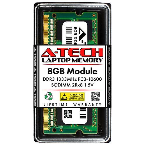 Memoria Ram 8GB PC3-10600  SODIMM DDR3 1333MHz 204pin