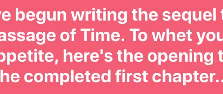 Passage of Time saga