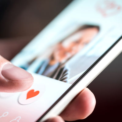 Dating app or site in mobile phone scree