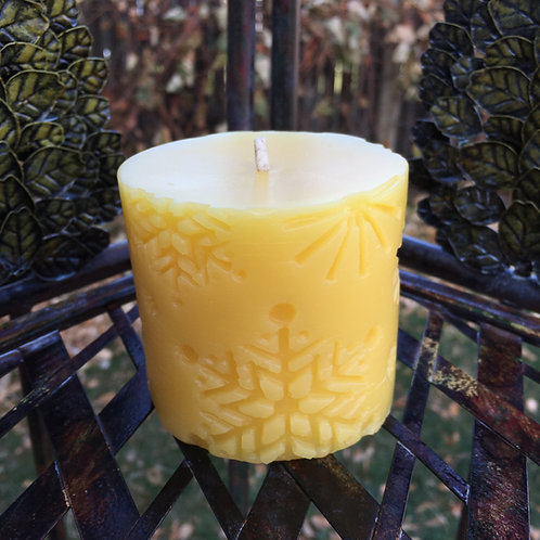 Snowflake Pillar Candle