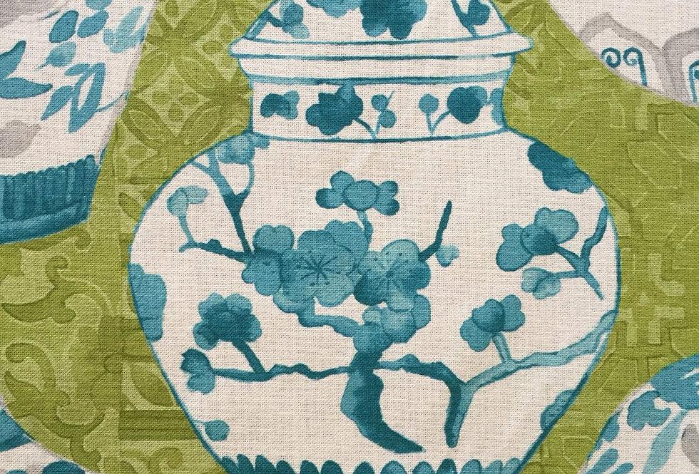 Aqua - Kiwi Green - Chinoiserie Vases