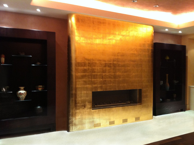Fireplace with Gold Leaf