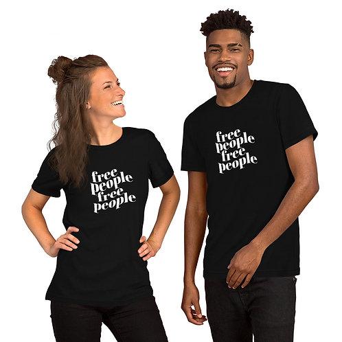 Free People Unisex Black T-Shirt