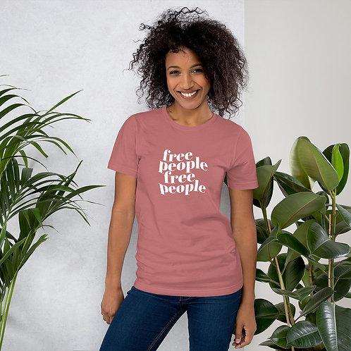 Free People Unisex Mauve T-Shirt