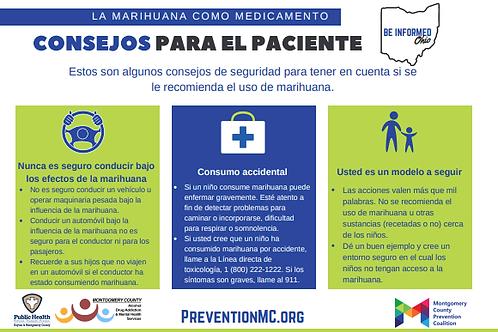 Marijuana Patient Tips & Safe Storage (Spanish)