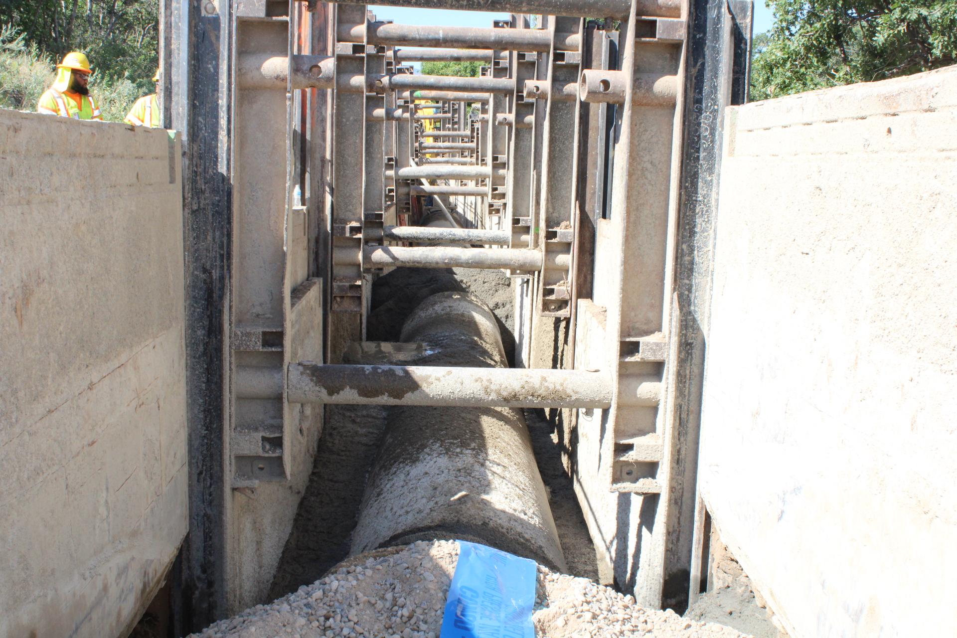 Slide Rail Trenching Example
