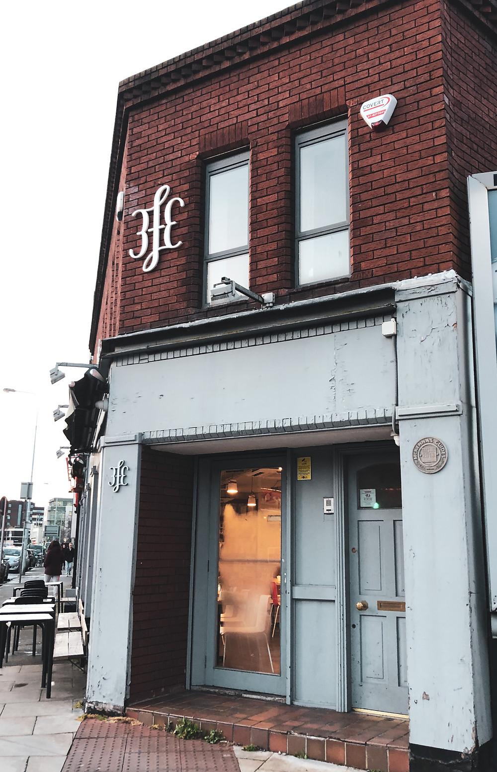 The outside of 3fe Cafe in Dublin
