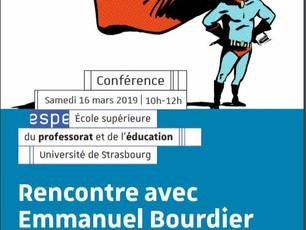 Conférence à l'université de Strasbourg