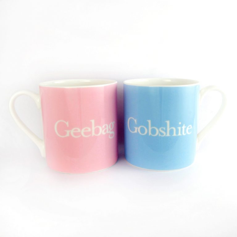 Jam Art Factory http://jamartfactory.com/product/his-and-hers-geebag-and-gobshite-mugs/