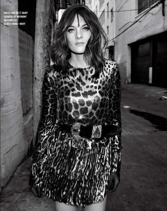 Frankie Shaw / Saint Laurent / V Magazine