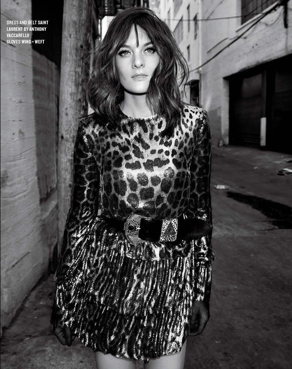 Frankie Shaw / Saint Laurent / V Magazine