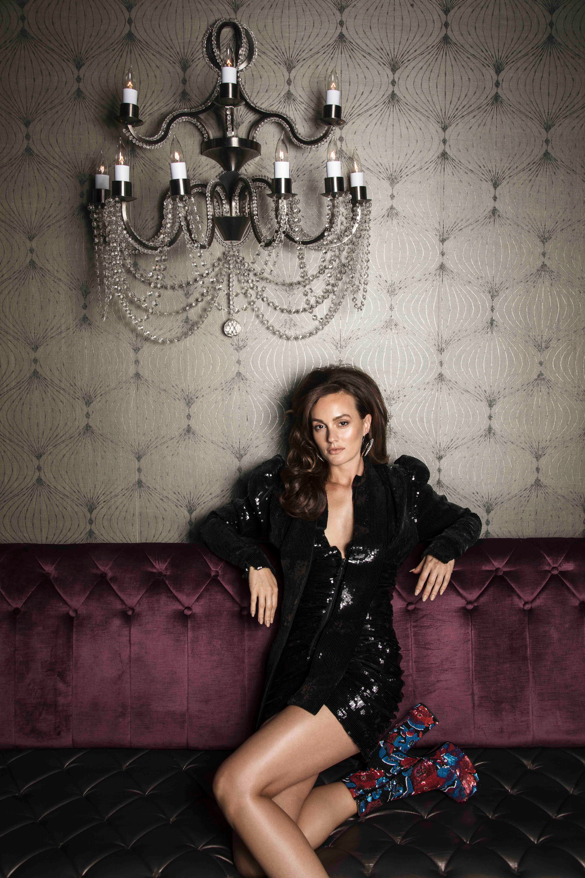 Leighton Meester / Saint Laurent / V Magazine