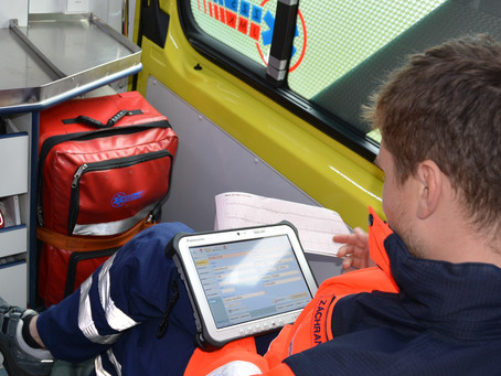 Rugged tablets in ambulance vehicles