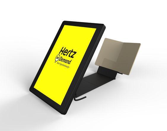 Herz digitale bewegwijzering met touchscreen.