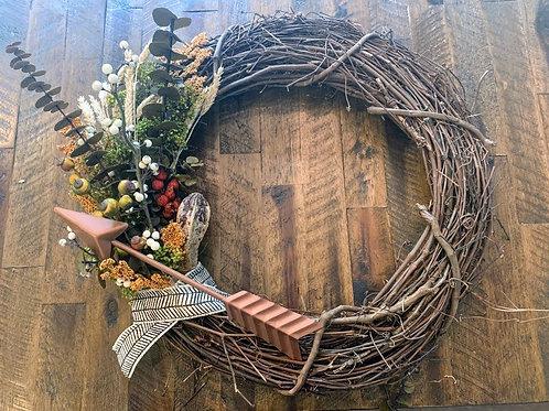 Handmade Indigenous Autumn Wreath