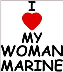 I Love My Woman Marine