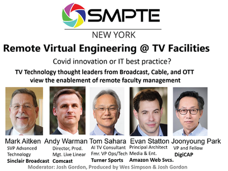 SMPTE NY presentation on the Virtualization of TV Infrastructure