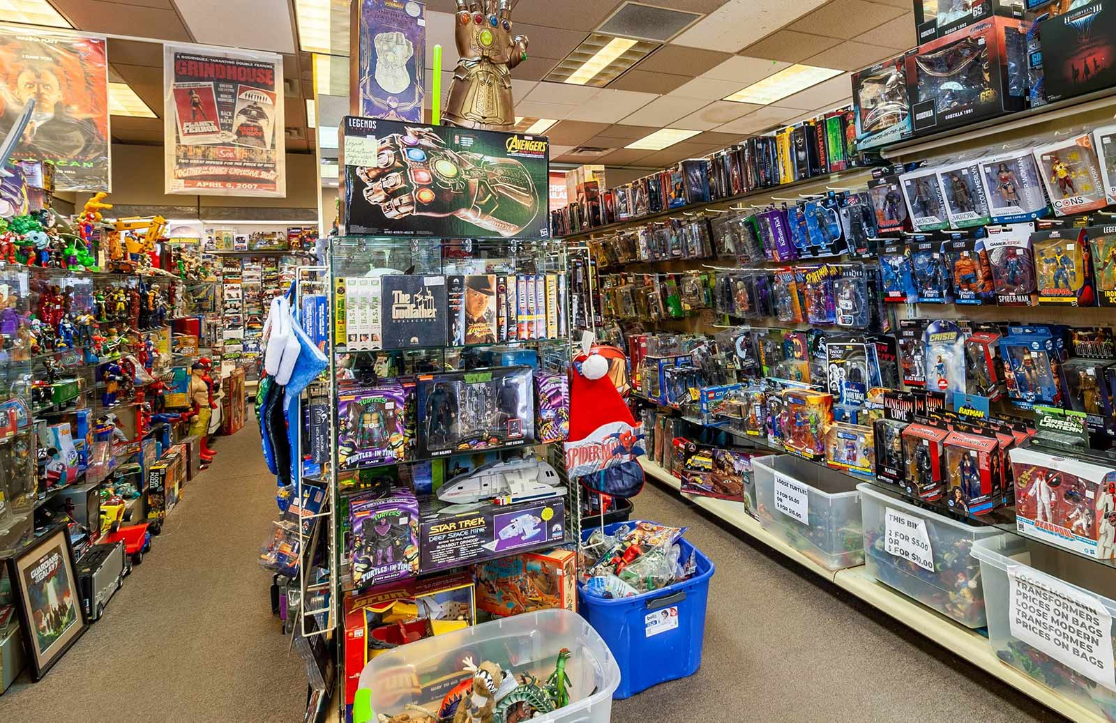 Action figures, original movie posters always in stock