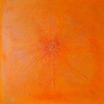 Orange Orb Mixed Media - Sold