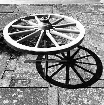 Black & White Wheel Shadows