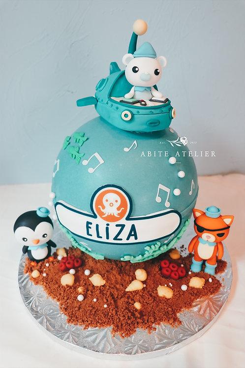 Octonauts Piñata Cake