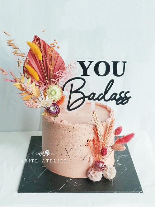 Bad Ass Floral Buttercream Cake