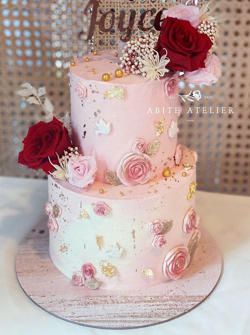 Joyce Floral Buttercream Cake
