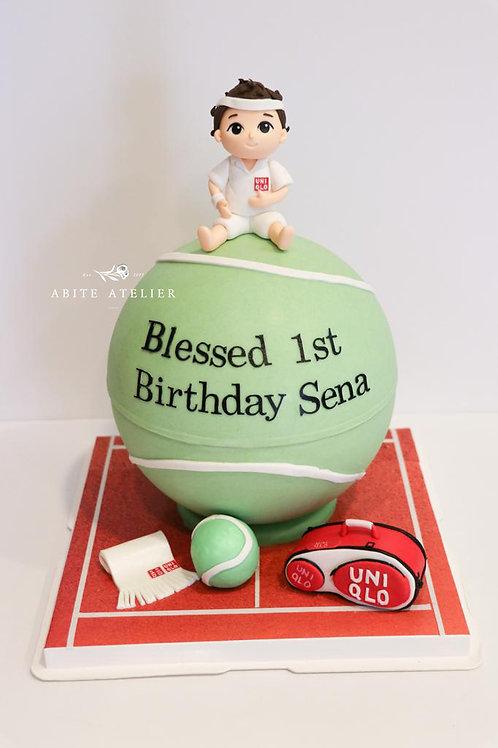 Tennis Piñata Cake