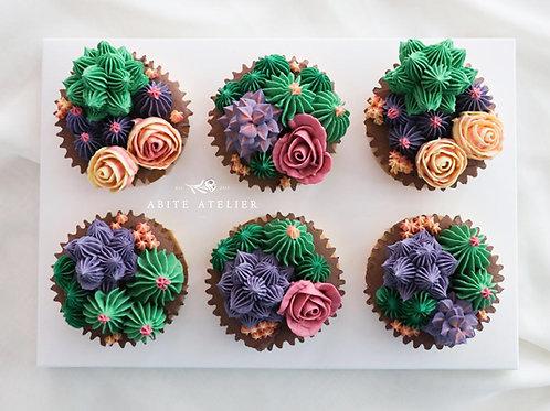 BloomingSucculentCupcakes - Box of 6