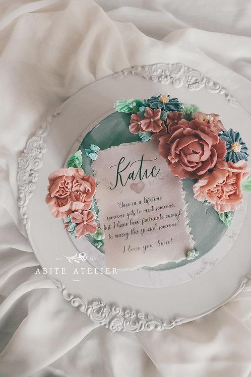 "Danielle Floral Cake - 6"""