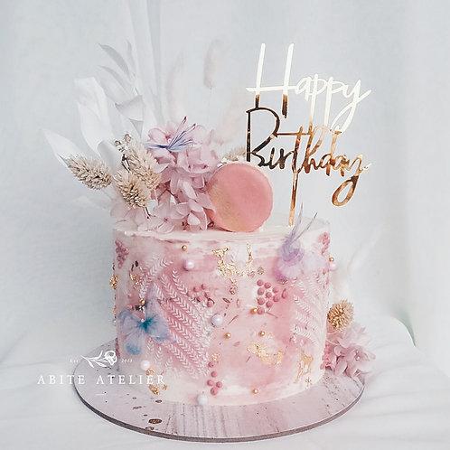 Dahlia Buttercream Cake