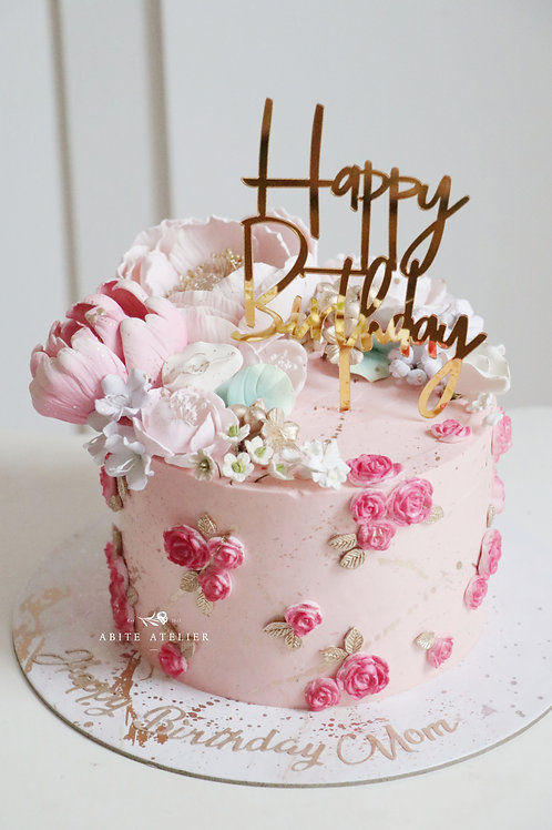 Evening Primrose Buttercream Cake
