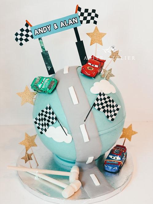 Cars Piñata Cake
