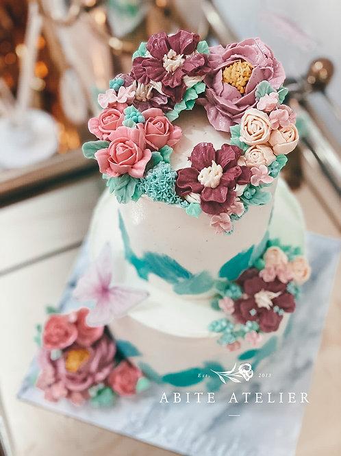 Aurora Floral Cake - 2 Tier