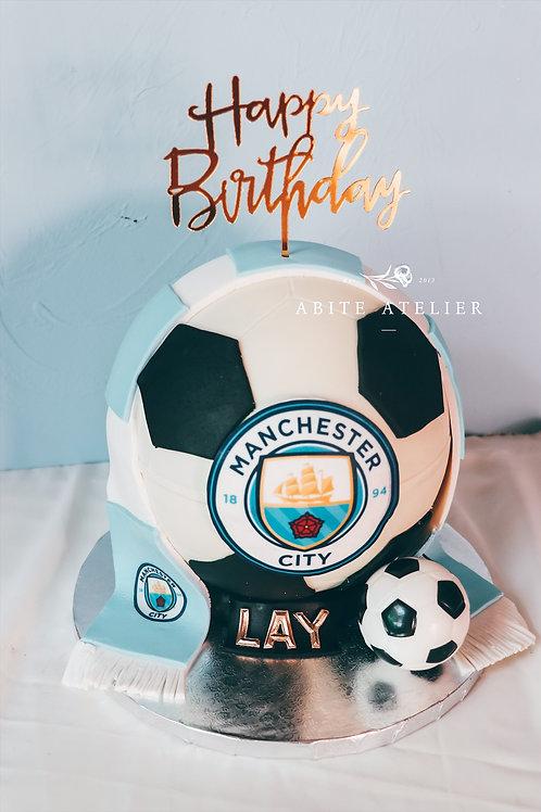 Manchester City Piñata Cake