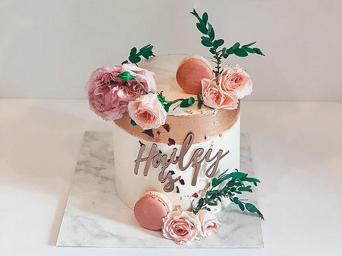 Hailey Floral Buttercream Cake