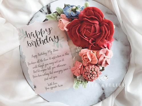 "Cordelia Floral Cake - 6"""