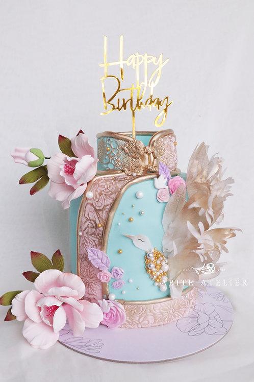 Cheongsam Fondant Cake