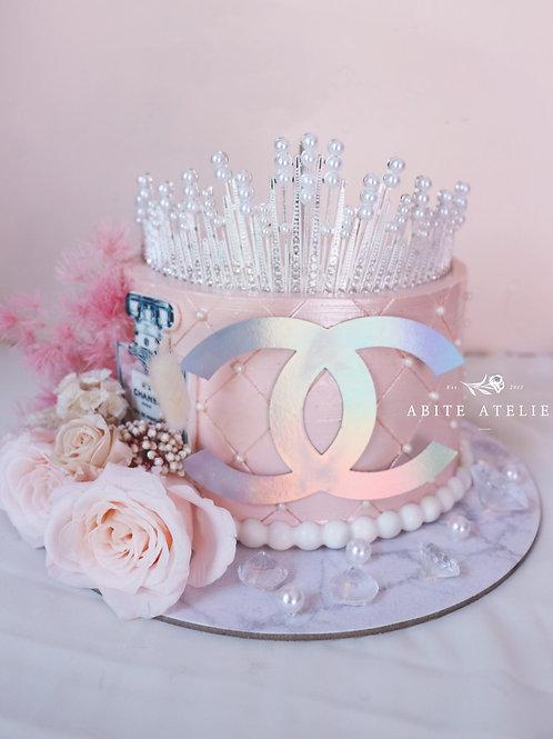 Luxe Series - Chanel Inspired Iridescent Buttercream Cake