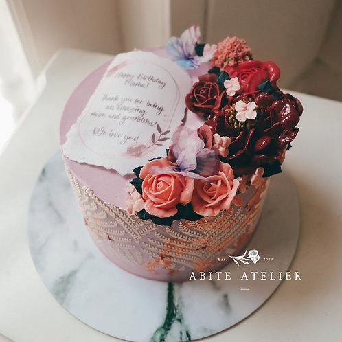 "Berkley Floral Cake - 6"""
