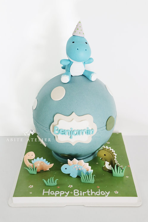 Cute Dinosaur Piñata Cake