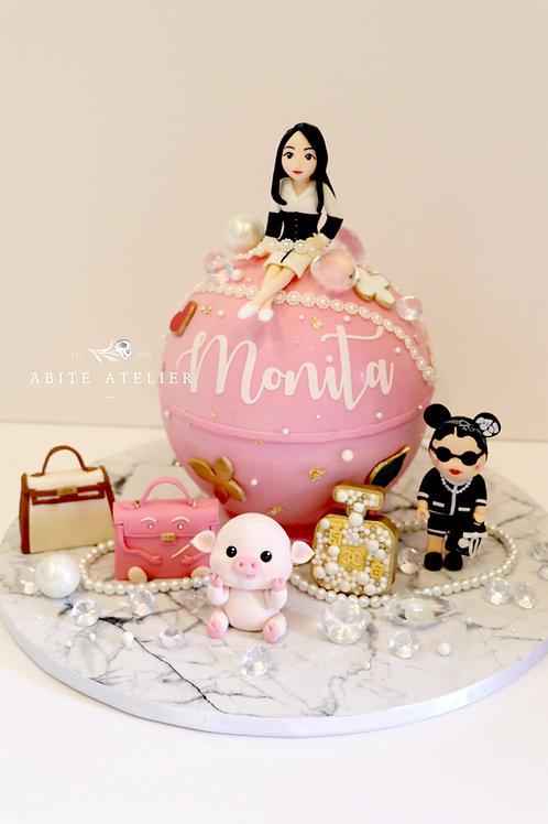 Luxe Series - Belle Piñata Cake