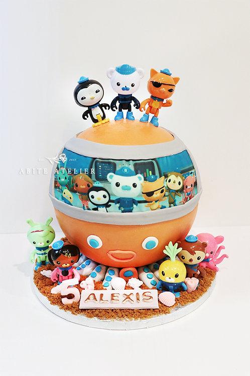 Octonauts Pod Piñata Cake