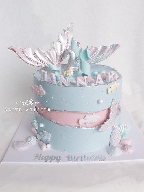 Mermaid Fantasy Buttercream Cake