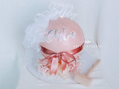 Floral & Ruffles Piñata Cake