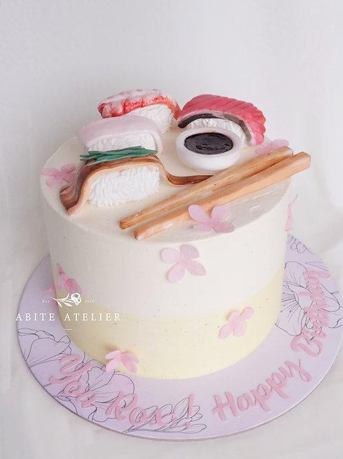 Sushi Buttercream Cake